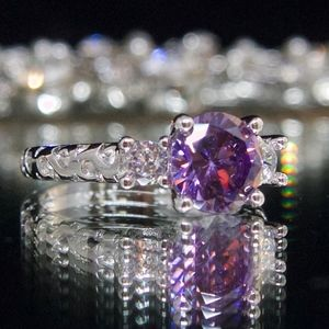 925 14kt Gold Dipped Purple Topaz Engagement Ring